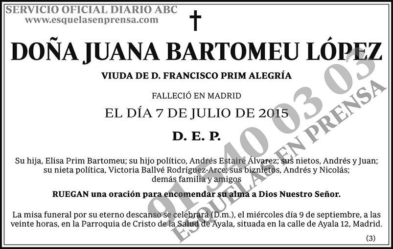 Juana Bartomeu López